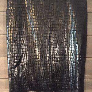 ANNE KLEIN SNAKESKIN LIKE SKIRT.  NEW WITH TAGS